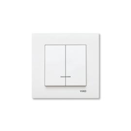 Serieschakelaar met controlelamp 90960050 Karre Wit