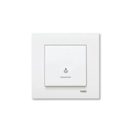 Schakelaar Lamp Impulsdrukker met controlelamp 90960014 Karre Wit