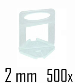 Titan Prof Tile Level Voetstuk 2 mm (500x)