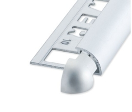 RONDEX Rond Alu Mat Zilver 8 mm Buitenhoek (2x) OX-E181000127