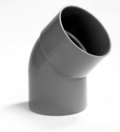 PVC Lijmbocht M/S 45° Ø75 mm 52901