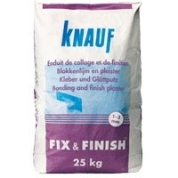 Knauf Fix & Finish Wit Gipsmortel 25 kg