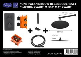 BD Lacora M300 Mat Zwart One-Pack Inbouw doucheset 4006490