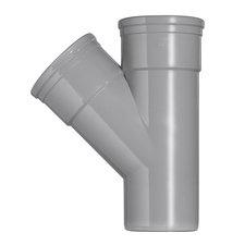 PVC T-stuk 45° Ø160-160 Manchet 2XMM 53368