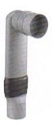 HAAS 3950 PVC Ruimtebesparend WC Aansluitgarnituur Ø90/90 L=300 mm