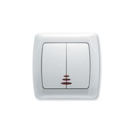 Serieschakelaar met controlelamp 90561050 Carmen Wit