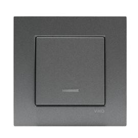 Schakelaar met controlelamp 93000419 Novella Fume