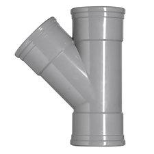 PVC T-stuk 45° Ø160-160 Manchet 3XMM 53395