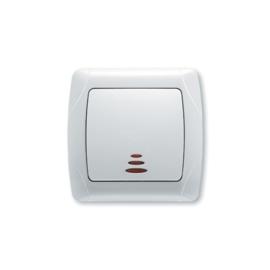 Schakelaar met controlelamp 90561019 Carmen Wit
