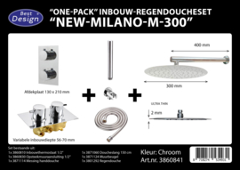 BD New Milano M300 One-Pack Inbouw Regendoucheset 3860841