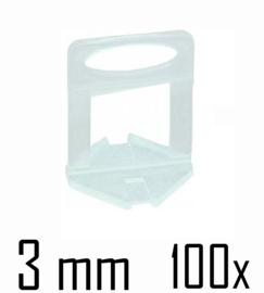 Titan Prof Tile Level Voetstuk 3 mm (100x)