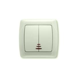 Serieschakelaar met controlelamp 90562050 Carmen Creme