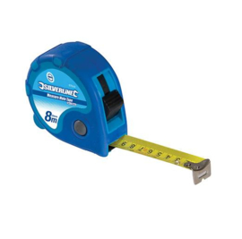Silverline Rolmaat 8 m x 25mm Blauw 675126