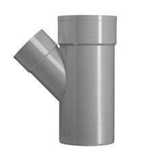 PVC Lijm T-stuk Ø50x40 mm M/M/S 45° 52949