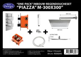 BD Piazza M300x300 One-Pack Inbouw Regendoucheset 4006840