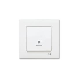Wisselschakelaar met controlelamp 90960063 Karre Wit