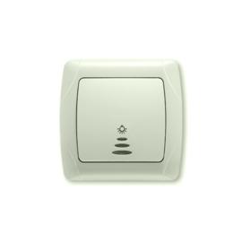 Schakelaar Lamp Impulsdrukker met controlelamp 90562014 Carmen Creme