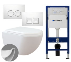 Geberit UP100 Inbouwreservoirset FE321 Rimless