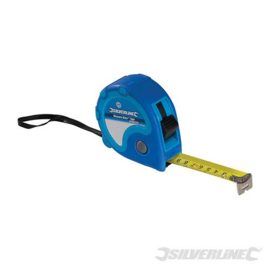 Silverline Rolmaat 10 m x 25mm Blauw 282457