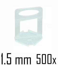 Titan Prof Tile Level Voetstuk 1.5 mm (500x)