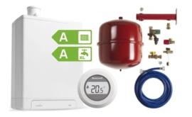 Intergas HRE36/48A CW5 Kombi Kompakt RF2 (A-label) + Honeywell Round On/Off T87G1006 + Ketelaansluitset