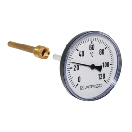 """Afriso Thermometer 0-120° Achter 1/2"""" - Ø63 mm - L= 40 mm"""