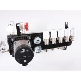 5 Groeps Vloerverwarmings Verdeler Alpha 2L