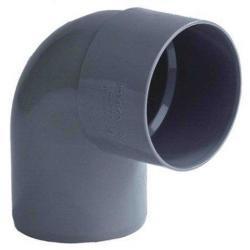 PVC Lijmbocht M/S 90° Ø125 mm 52908