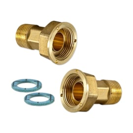 "Watermeter Koppelings-set 1/2"" x 3/4"" (2x)"