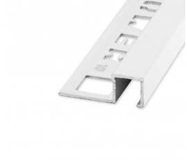 QUTEX Vierkant Alu Wit 8 x 2700mm OX-E061010135 Tegelprofiel
