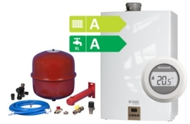 Remeha Avanta Plus HR Combi CW5 35C (A-label) + Honeywell Round On/Off T87G2014-E + Bonfix Ketelaansluitset