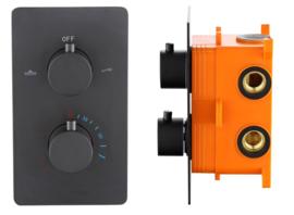 BD Lacora Nero Inbouw Thermostaat met Box mat zwart 4006180