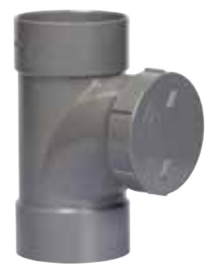 PVC Ontstopping T-stuk Ø125 M/M 53465