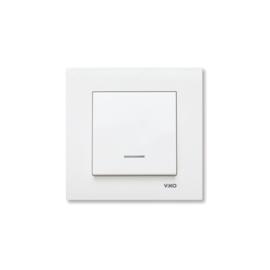 Schakelaar met controlelamp 90960019 Karre Wit
