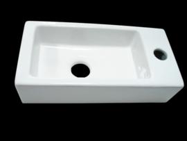 Fontein Mini Block 36x18x9cm Wit links
