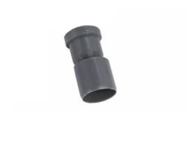 Rubber Sifon met plug voor douchegoot met onderuitlaat
