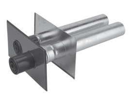 M&G 400453881 Alu. 2-pijps Geveldoorvoer L 600 mm / Ø 80-80 mm.