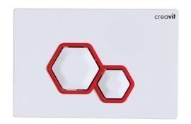 Creavit GP6001.01 Bedieningspaneel DIA WIT / ROOD