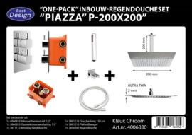 BD Piazza P200x200 One-Pack Inbouw Regendoucheset 4006830