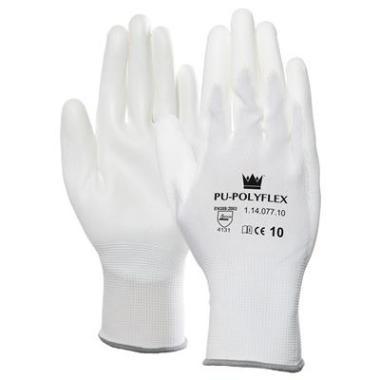 M-Safe 11407710 PU-Polyflex Werkhandschoen Wit Maat 10