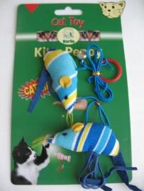 Karlie 2 Muizen aan koord 90 cm