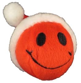 Kerstbal pluche met Smiley