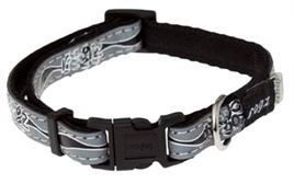 Rogz for Dogs Halsband Zwart reflecterend