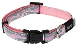 Rogz for Dogs Halsband Roze reflecterend