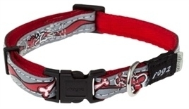 Rogz for Dogs Halsband Rood reflecterend