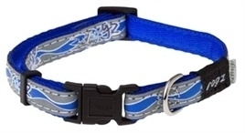Rogz for Dogs Halsband Blauw reflecterend