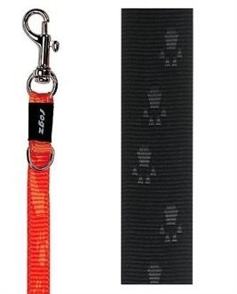 Rogz for Dogs looplijn Zwart 1,8 m
