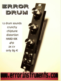 ERROR DRUM !    12 drum sounds