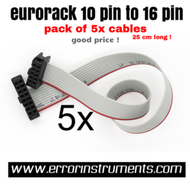 Eurorack Power Cables pack of 5 x  10 tot 16 pin
