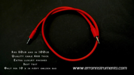 ERROR patch cables set of  10   size   50cm  long  RED